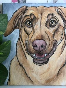 shop local raleigh pet paintings by nicole
